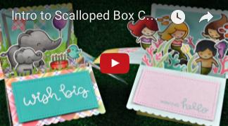 Lawn Fawn - Scalloped Box Card Pop-Up - Stanzen