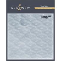 Altenew - 3D Embossing Folder - Geo Steps