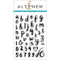 Altenew - Calligraphy Alpha - Clear Stamps 4x6