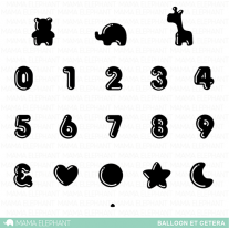 Mama Elephant - Balloon Et Cetera - Clear Stamps 4x6