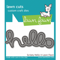 Lawn Fawn - Scripty Hello - Stanze
