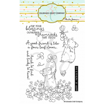 Colorado Craft Company - 4 Leaf Clover - Clear Stamp Set 4x6