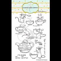 Colorado Craft Company - Tea Time fun - Clear Stamp Set 4x6