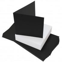 Craft UK - Karten und Umschläge - Schwarz/Weiss - 6x6 - 40 Stk