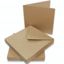 Craft UK - Karten und Umschläge - Kraft - 6x6 - 50 Stk