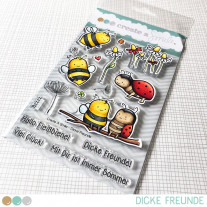 Create A Smile - Dicke Freunde - Clear Stamps 4x6