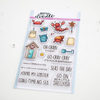 Heffy Doodle - A Little Shellfish - Clear Stamps Set 4x6
