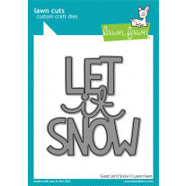 Lawn Fawn - Giant Let -It Snow - Stand Alone Stanze
