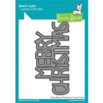 Lawn Fawn - Giant Merry Christmas - Stand Alone Stanze