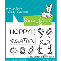 Lawn Fawn - Hoppy Easter - Clear Stamps 2x3