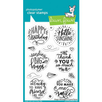 Lawn Fawn - Magic Messages - Clear Stamp Set 4x6
