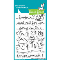 Lawn Fawn - Gleeful Gardens - Clear Stamps 4x6
