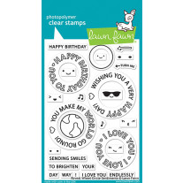 Lawn Fawn - reveal wheel circle sentiments - Clear Stamp 4x6