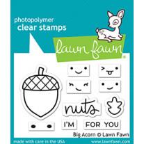 Lawn Fawn - big acorn - Clear Stamp 2x3