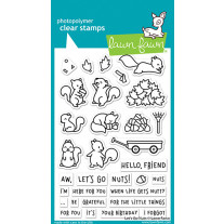 Lawn Fawn - let's go nuts - Clear Stamp 4x6