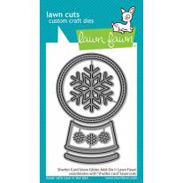 Lawn Fawn - shutter card snow globe add-on - Stanzen