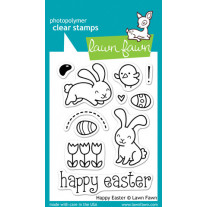 Lawn Fawn - Happy Easter - Clear Stamps 3x4