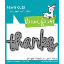 Lawn Fawn - Scripty Thanks - Stanze