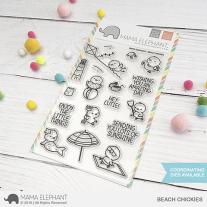 Mama Elephant - Beach Chickies - Clear Stamp 4x6