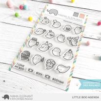 Mama Elephant - Little Boo Agenda - Clear Stamp 4x6
