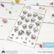 Mama Elephant - Little Fairy Agenda - Clear Stamp 4x6