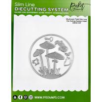 Picket Fence Studios - Slim Line Die Cutting System Insert 4x4 Inch Mushroom Field - Stand Alone Stanze