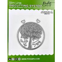 Picket Fence Studios - Slim Line Die Cutting System Insert 4x4 Inch Tree Scenery - Stand Alone Stanze