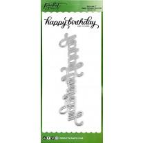 Picket Fence Studios - Slim Line Happy Birthday Word 17.8cm - Stand Alone Stanzen
