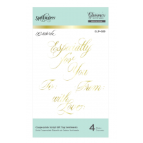 Spellbinders - Glimmer Plate - Script Tag Sentiment