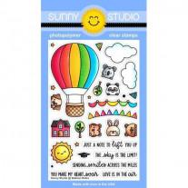 Sunny Studio - Balloon Rides - Clear Stamp Set 4x6
