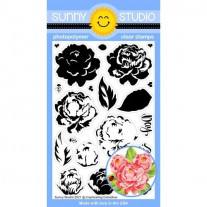 Sunny Studio - Captivating Camellias - Clear Stamp Set 4x6
