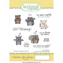 Taylored Expressions - Valentine Grumplings - Rubberstamp 4x6