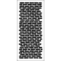 The Crafter's Workshop - Bricks Vertical - Slimline Schablone