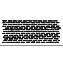 The Crafter's Workshop -  Bricks Horizontal - Slimline Schablone