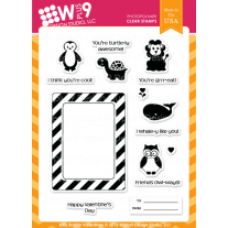 WPlus9 - Bitty Buddy Valentines - Clear Stamps 6x8
