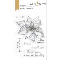 Altenew - Modern Poinsettia - Clear Stamps 4x6
