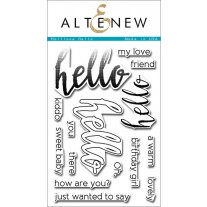 Altenew - Halftone Hello - Clear Stamps 4x6