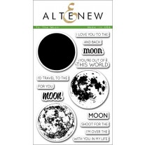 Altenew - To The Moon - Clear Stamps 4x6