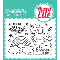 Avery Elle - Be A Unicorn - Clear Stamps 3x4
