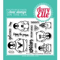 Avery Elle - Penguin Greetings - Clear Stamps 3x4