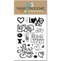 Paper Smooches - Lots Of Love - Clear Stamps 4x6