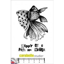 Carabelle Studio - Happy As A Fisch - Rubberstamp A7