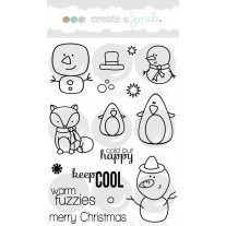 Create A Smile - Cool Buddies - Clear Stamps 4x6