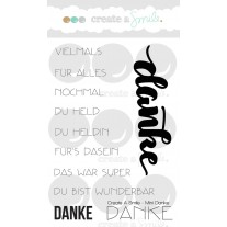 Create A Smile - Mini Danke - Clear Stamps 3x4