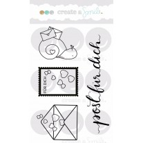 Create A Smile - Post Für Dich - Clear Stamps 3x4