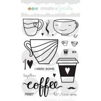 Create A Smile - Coffee First - Clear Stamps 4x6