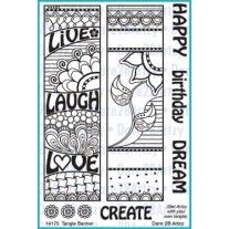 Dare 2 B Artzy - Tangle Banner - Clear Stamps 4x6