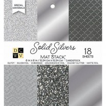 DCWV - Cardstock Stack - Silvers