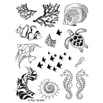 Design By Ryn - Sea Creatures 1 - Rubberstamp