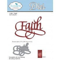 Elizabeth Craft Designs - A Way With Words, Faith - Stanze